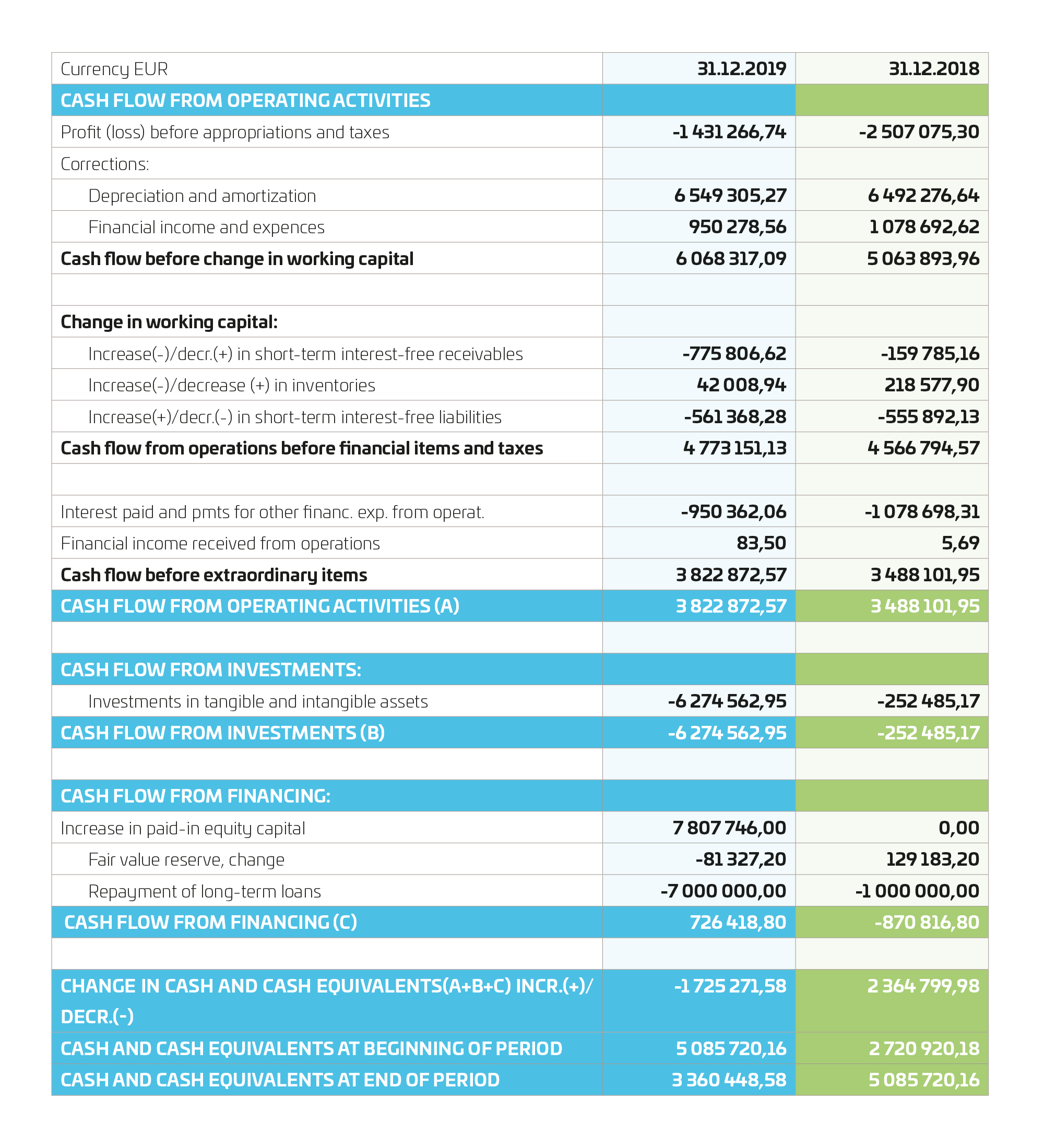 financial statement 2019
